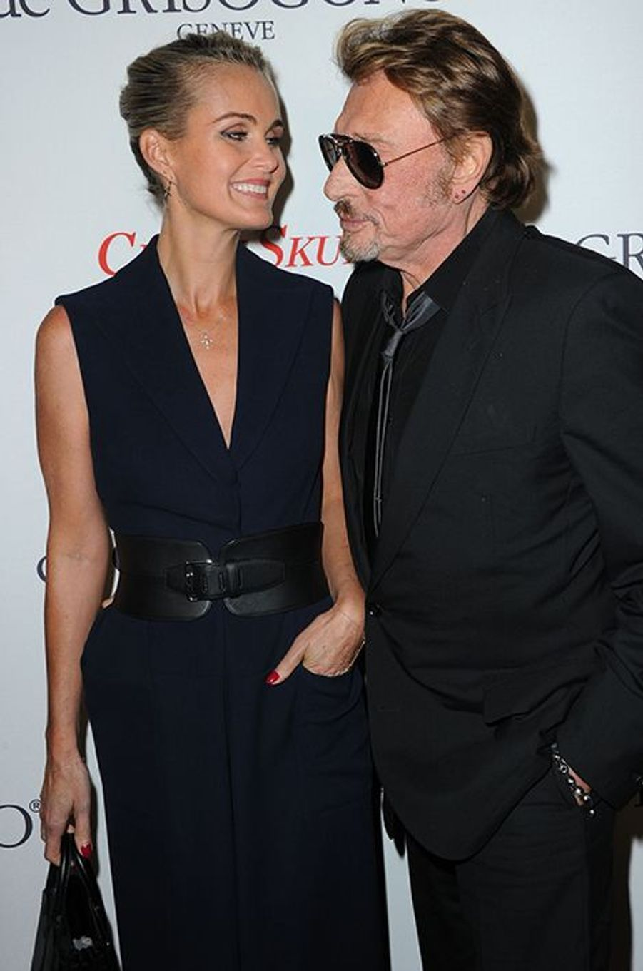 Johnny et Laeticia Hallyday à Paris le 23 octobre 2014