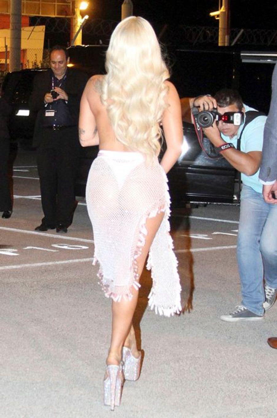 Lady Gaga à Athènes le 17 septembre 2014.