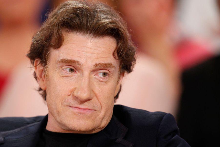 Thierry Frémont pendant l'enregistrement de «Vivement Dimanche» Roberto Alagna à Paris, le 15 octobre 2014