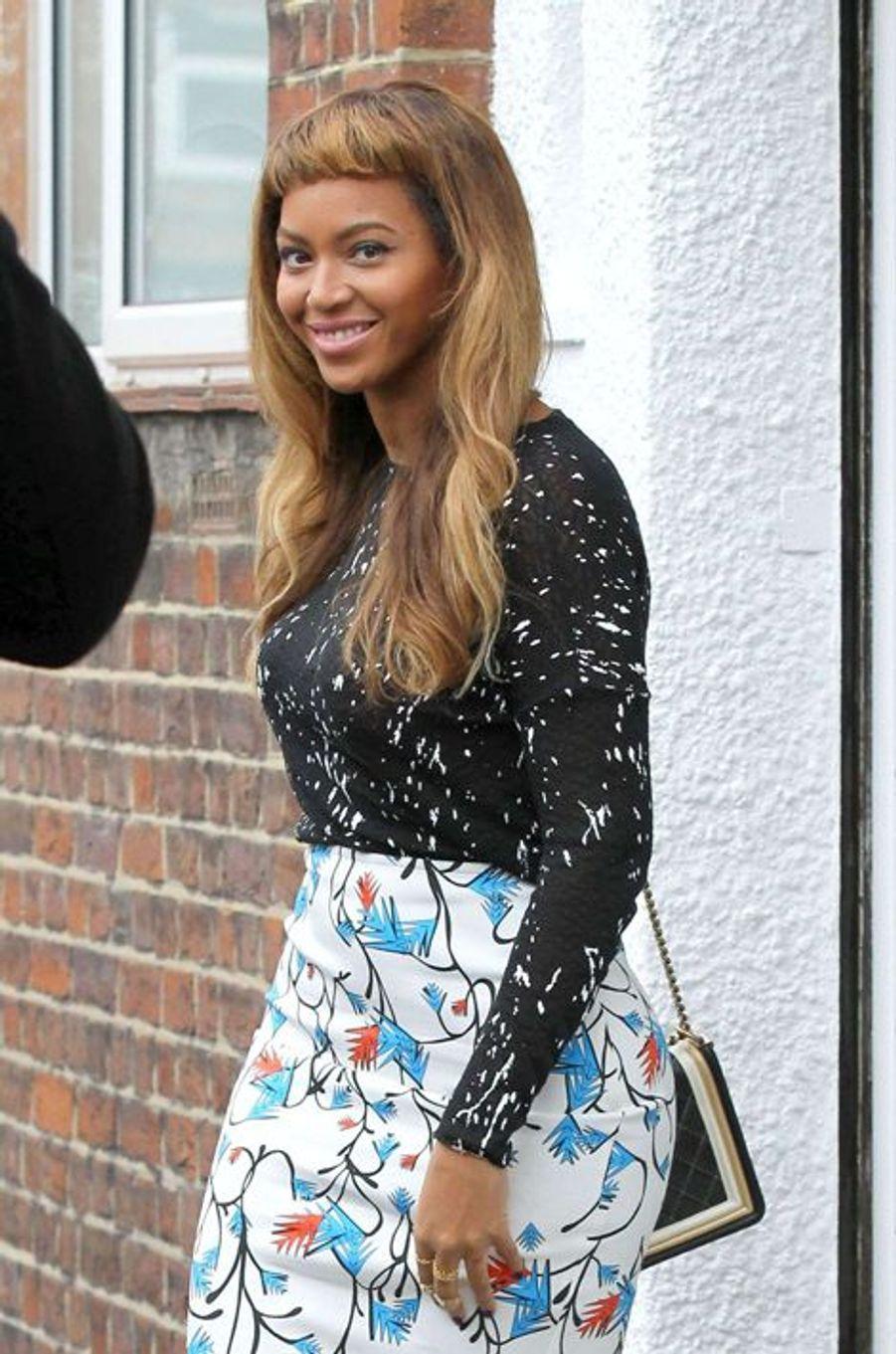 Beyoncé à Londres le mercredi 15 octobre 2014
