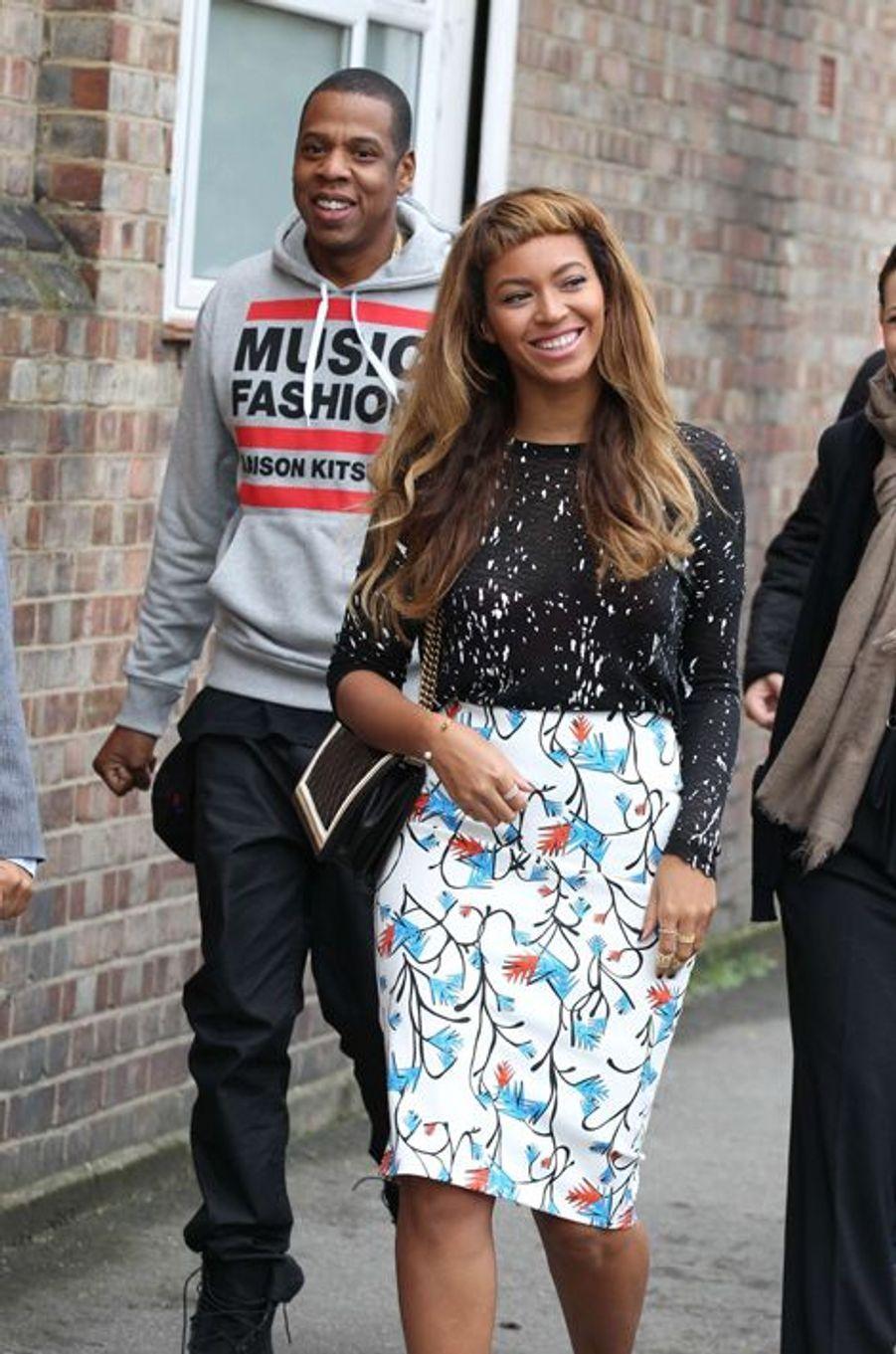 Jay Z et Beyoncé à Londres le mercredi 15 octobre 2014