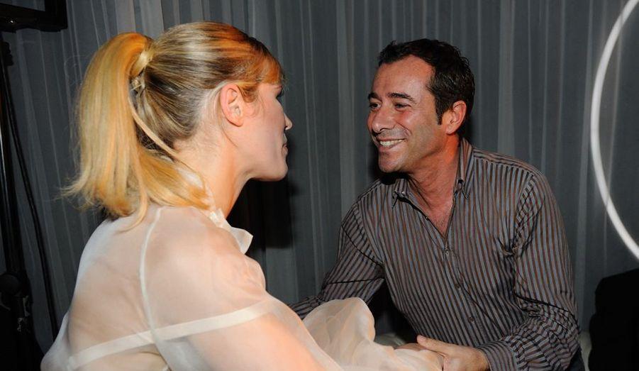 Avec son ami Bernard Montiel