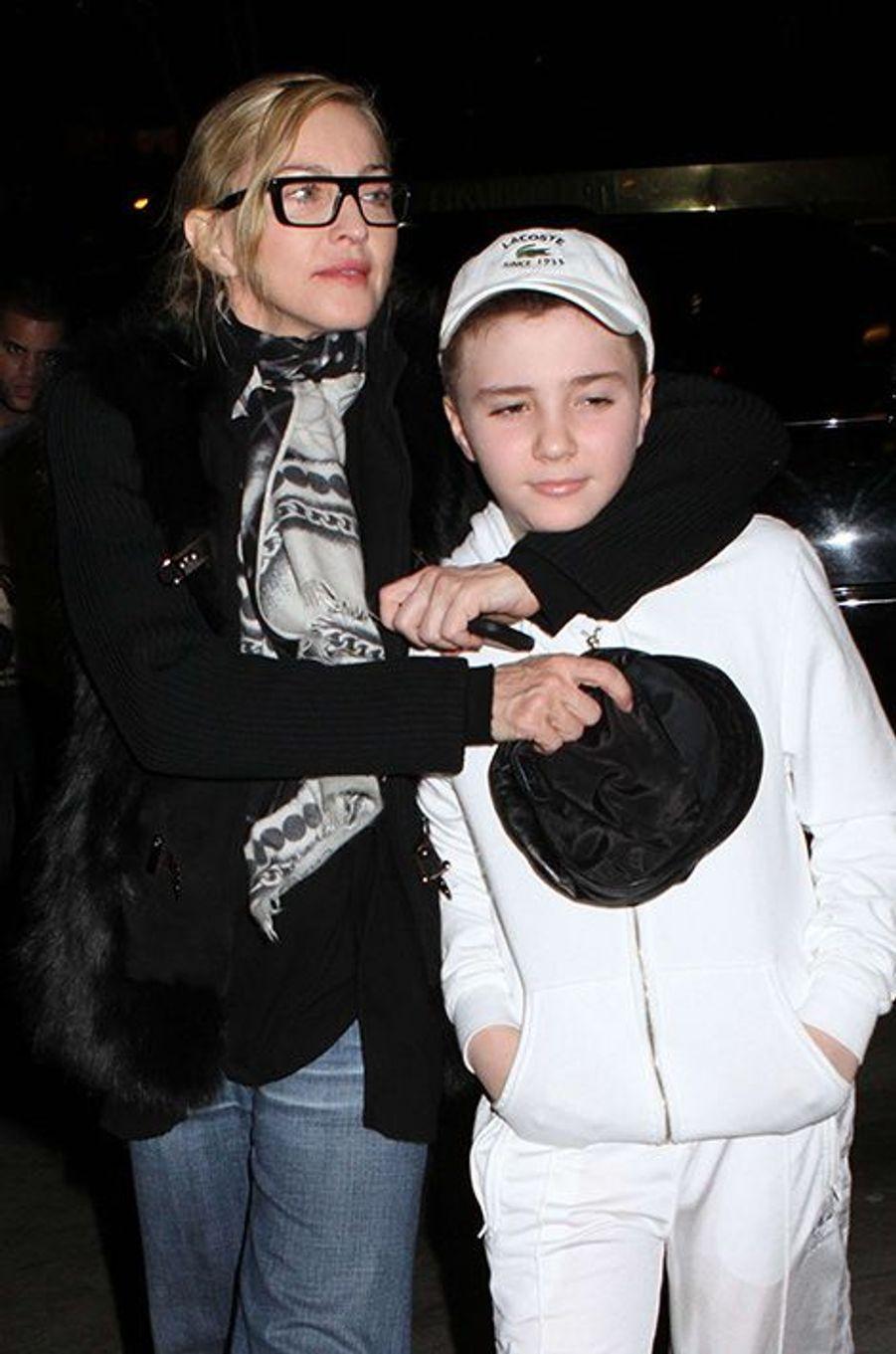 Madonna avec son fils Rocco, février 2012