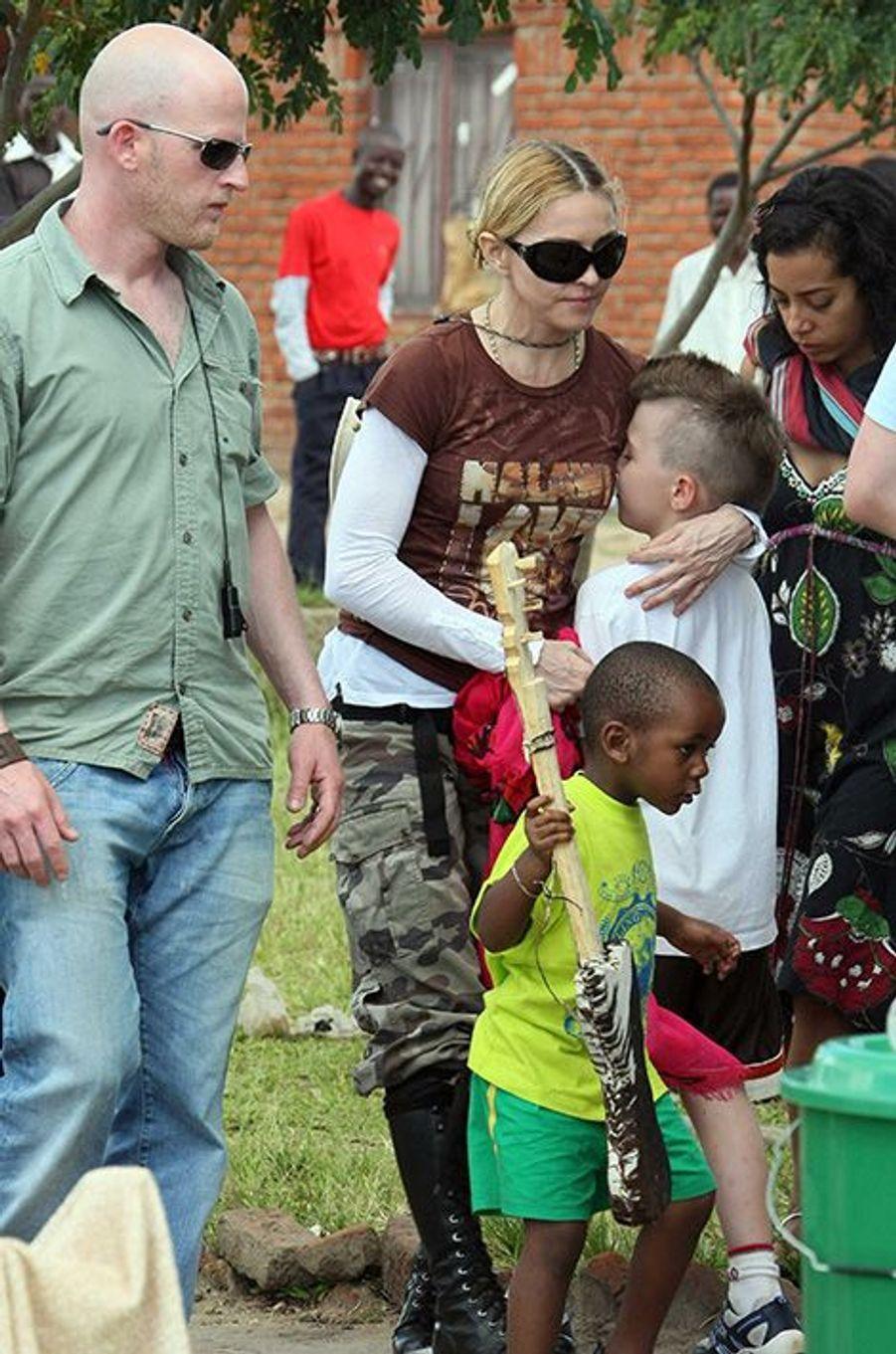 Madonna et Rocco en 2009