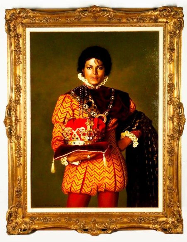 En février dernier, Michael Jackson, que l'on disait ruiné depuis quelques temps, organisait une vente aux enchères réunissant nombre d'objets cultes tels que ce tableau, ses costumes de scène, ses gants blancs et même le portail d'entrée de Neverland. Il l'a finalement annulée au dernier moment.