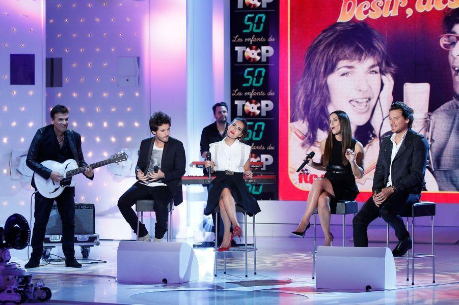 Enregistrement du «Vivement Dimanche» spécial 30 ans du Top 50 sur France 2 le 8 octobre 2014