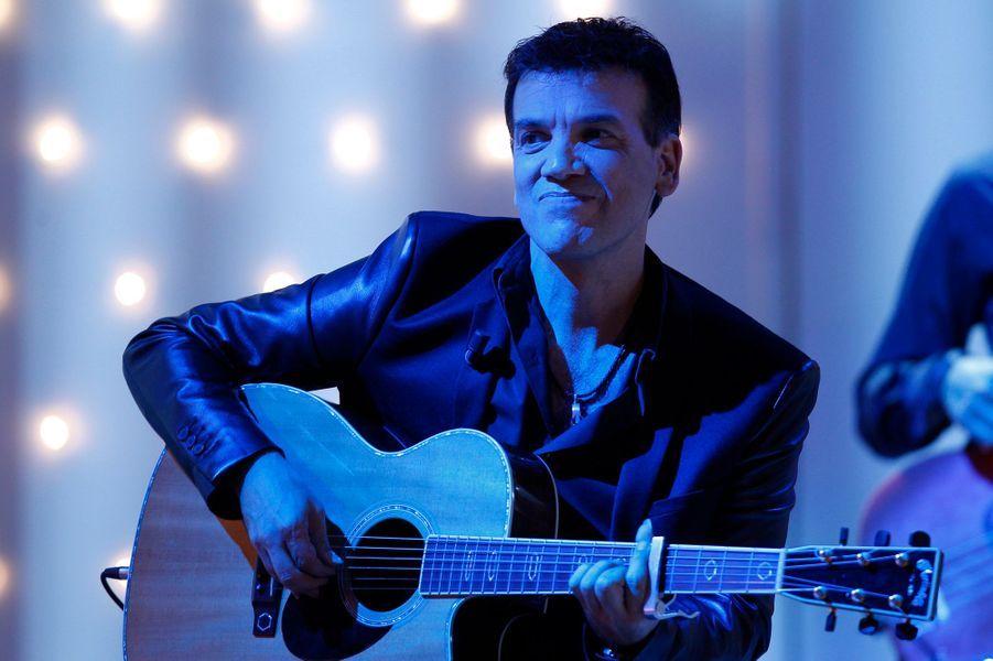 Jean-Félix Lalanne lors de l'enregistrement de «Vivement Dimanche» le 8 octobre 2014
