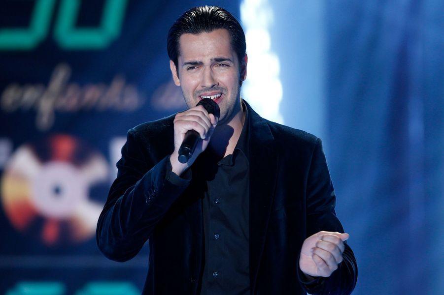 Yohan Fréget lors de l'enregistrement de «Vivement Dimanche» le 8 octobre 2014
