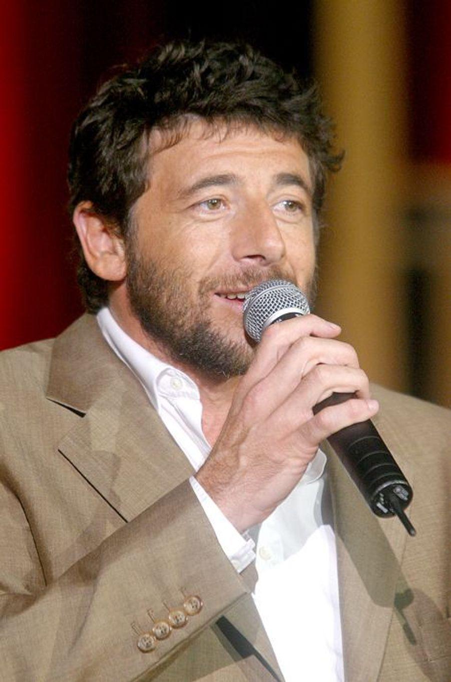 Partick Bruel à Paris le 27 septembre 2003.