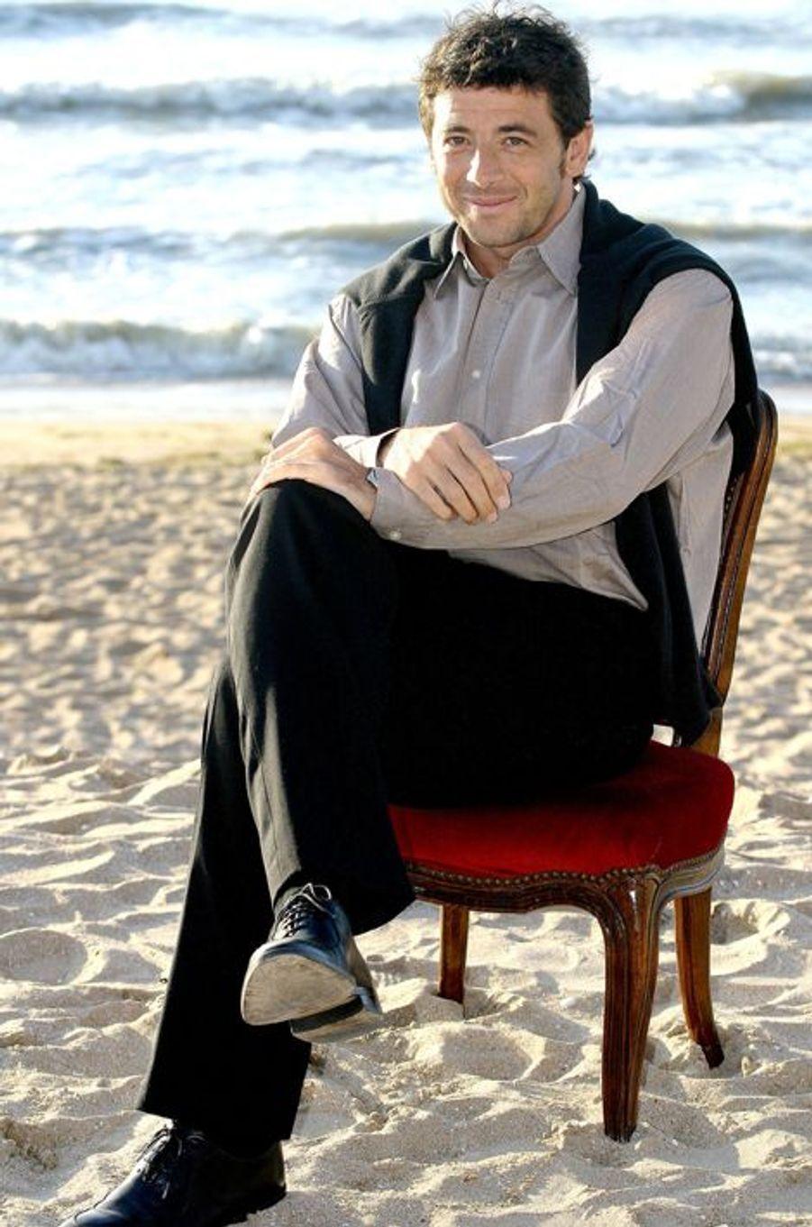 Patrick Bruel à Cabourg le 13 juin 2004.