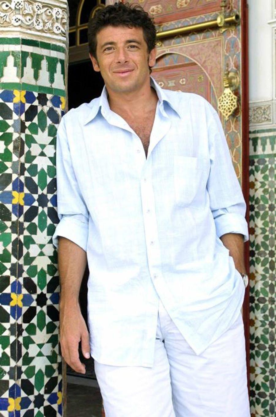 Patrick Bruel à Marrakech au Maroc le 2 octobre 2001.