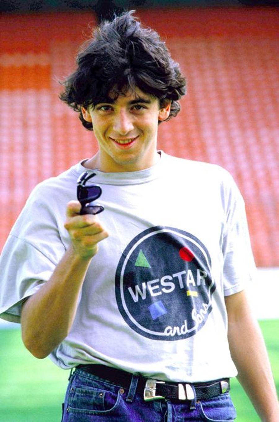 Patrick Bruel à Paris le 15 octobre 1985.