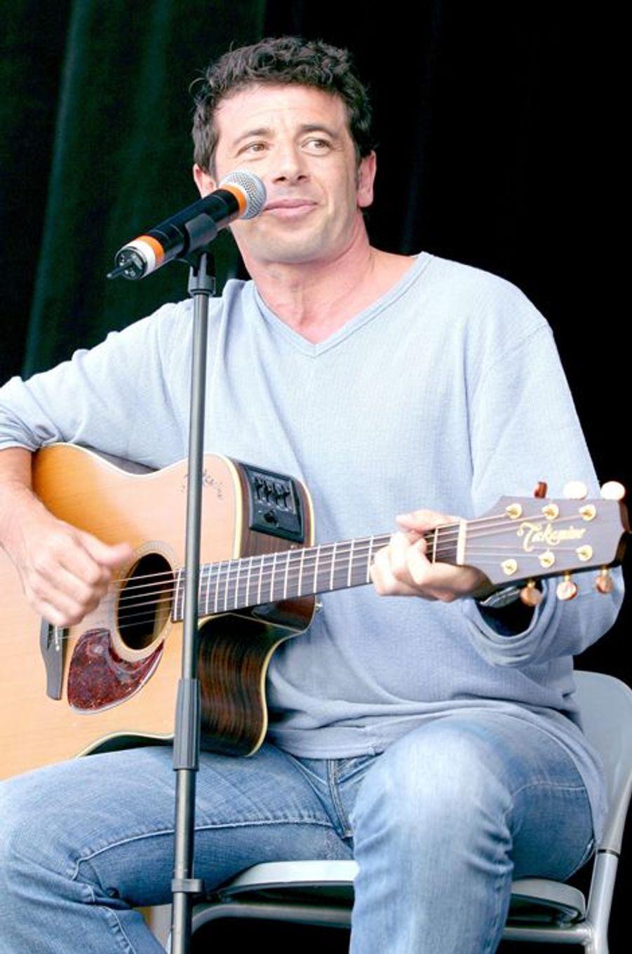 Patrick Bruel à Paris le 1er mai 2003.
