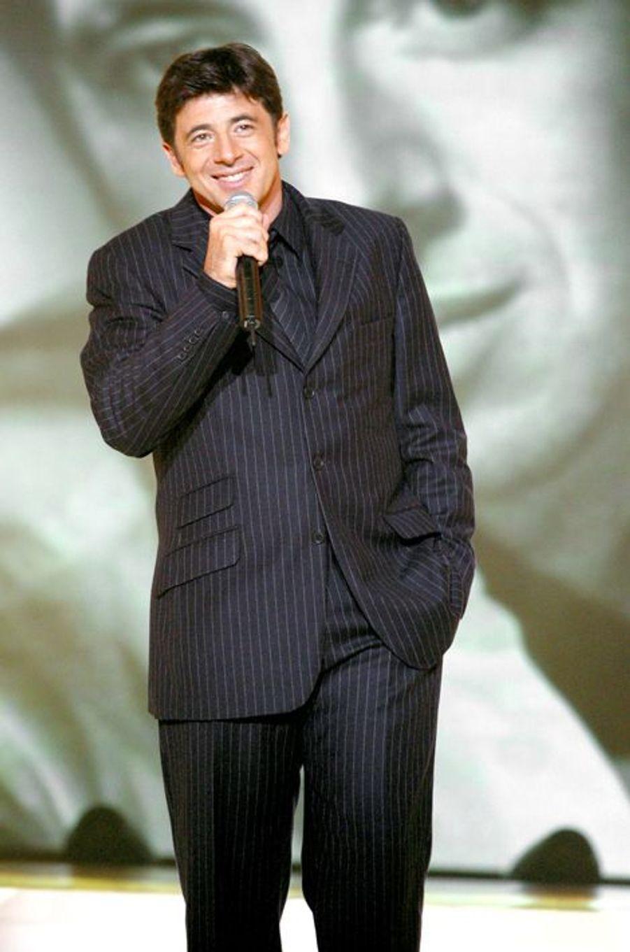 Patrick Bruel à Paris le 2 décembre 2002.