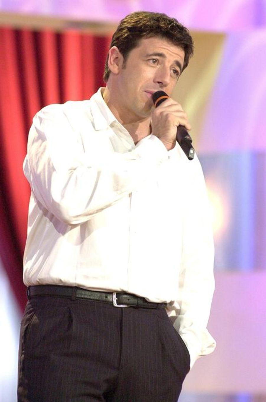 Patrick Bruel à Paris le 29 avril 2002.