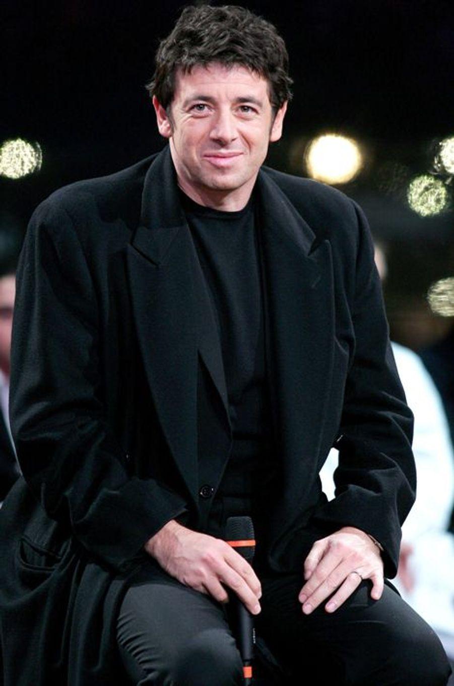 Patrick Bruel à Paris le 3 décembre 2004.