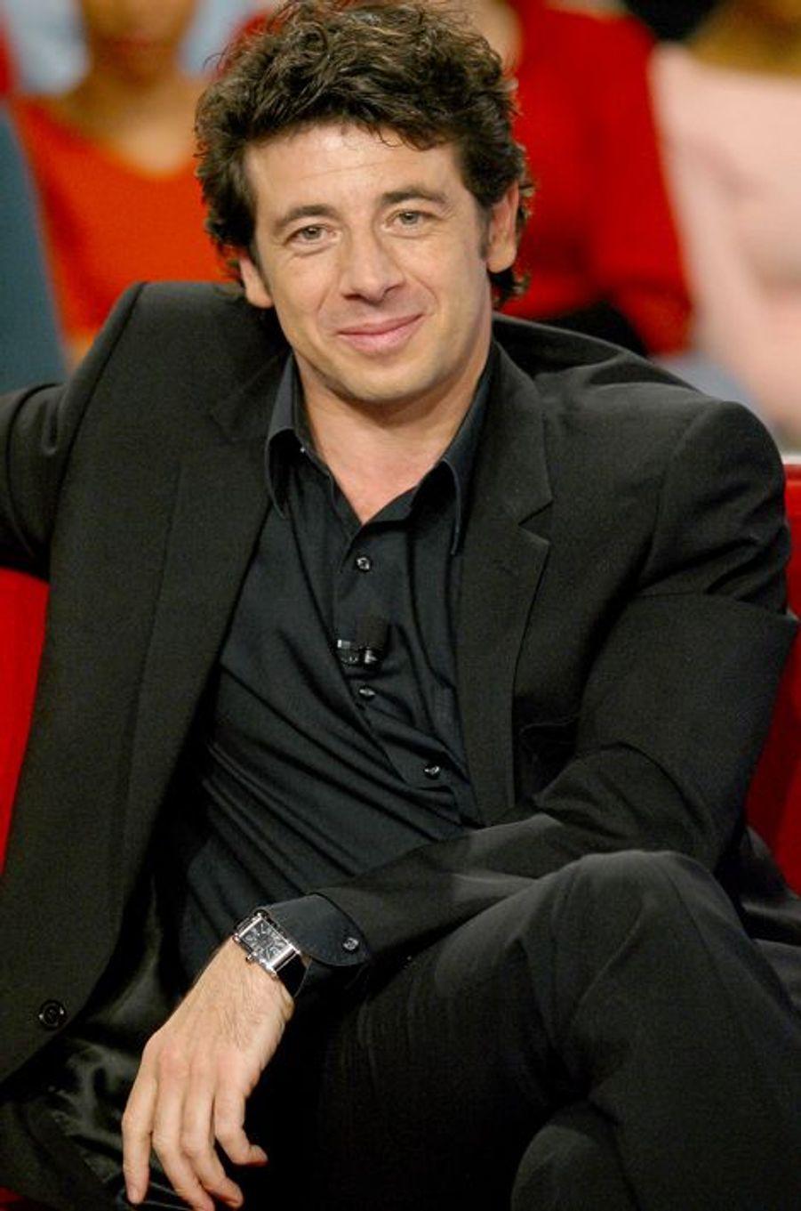 Patrick Bruel à Paris le 3 mars 2004.