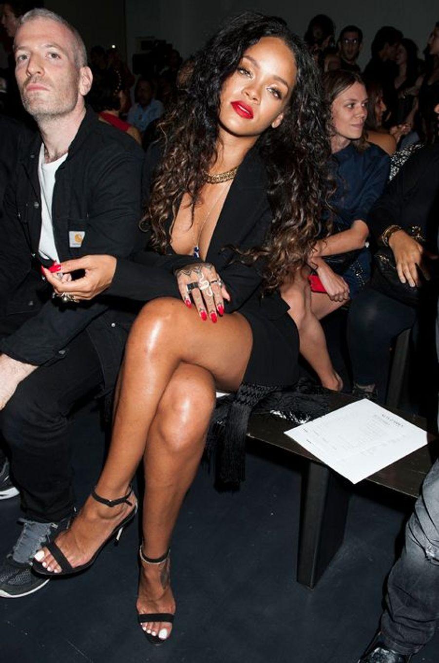 Rihanna au défilé Altuzarra à la Fashion Week à New York, le 6 septembre 2014.