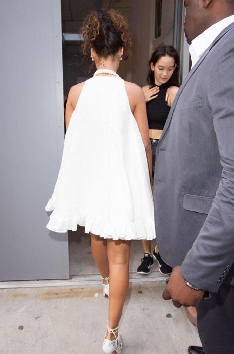 Rihanna au défilé d'Adam Selman à la Fashion Week à New York, le 5 septembre 2014.