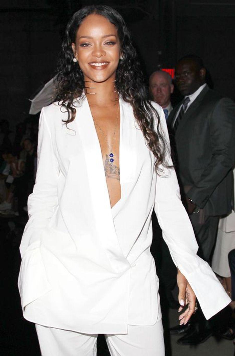 Rihanna au défilé Edun à la Fashion Week à New York, le 7 septembre 2014.