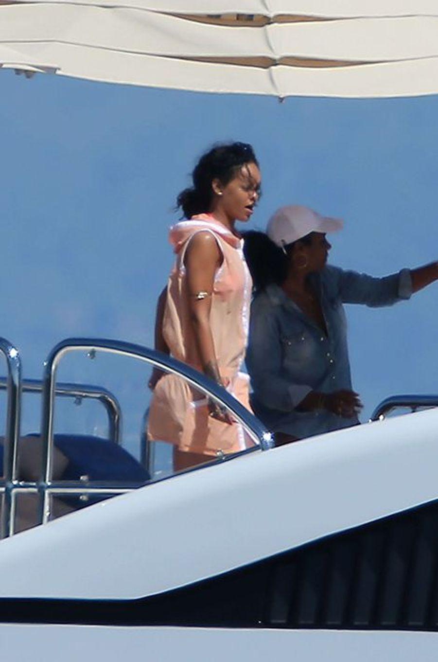 Rihanna en vacances dans le Sud de la France, le 2 septembre 2014.