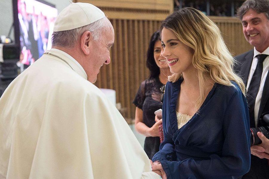 Violetta a inauguré le match pour la paix du pape François, le 1er septembre 2014