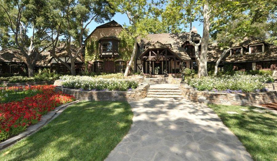 La demeure de Michael Jackson au ranch de Neverland, en Californie.