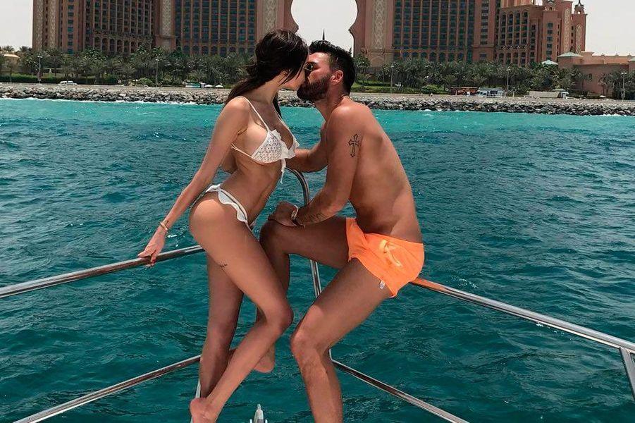 Nabilla et Thomas en vacances en 2017