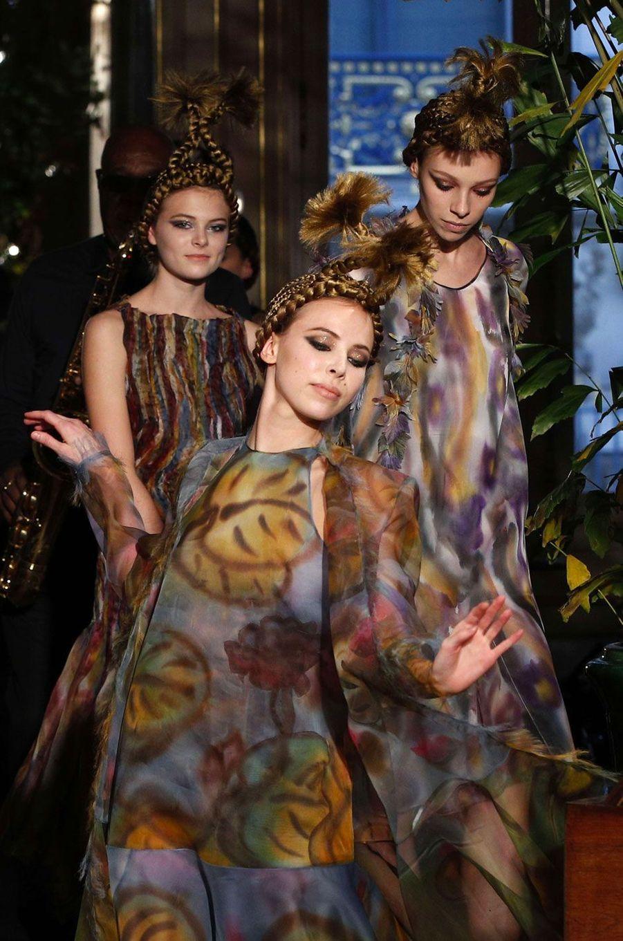 Défilé Franck Sorbier Haute Couture printemps-été 2018 le 25 janvier 2018