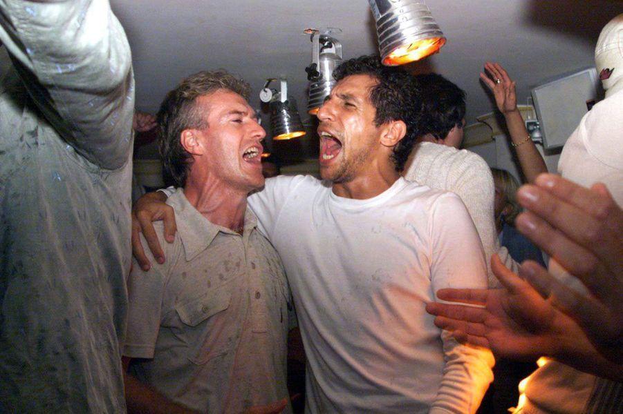 Didier Deschamps et Nagui en 1998