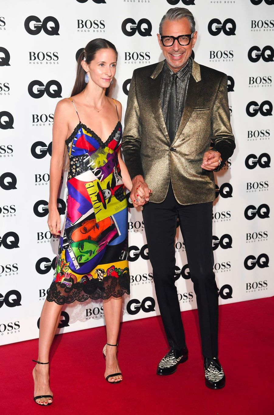 "Jeff Goldblum et Emilie Livingston à la soirée ""GQ Men of the Year"", le 5 septembre 2018 à Londres"