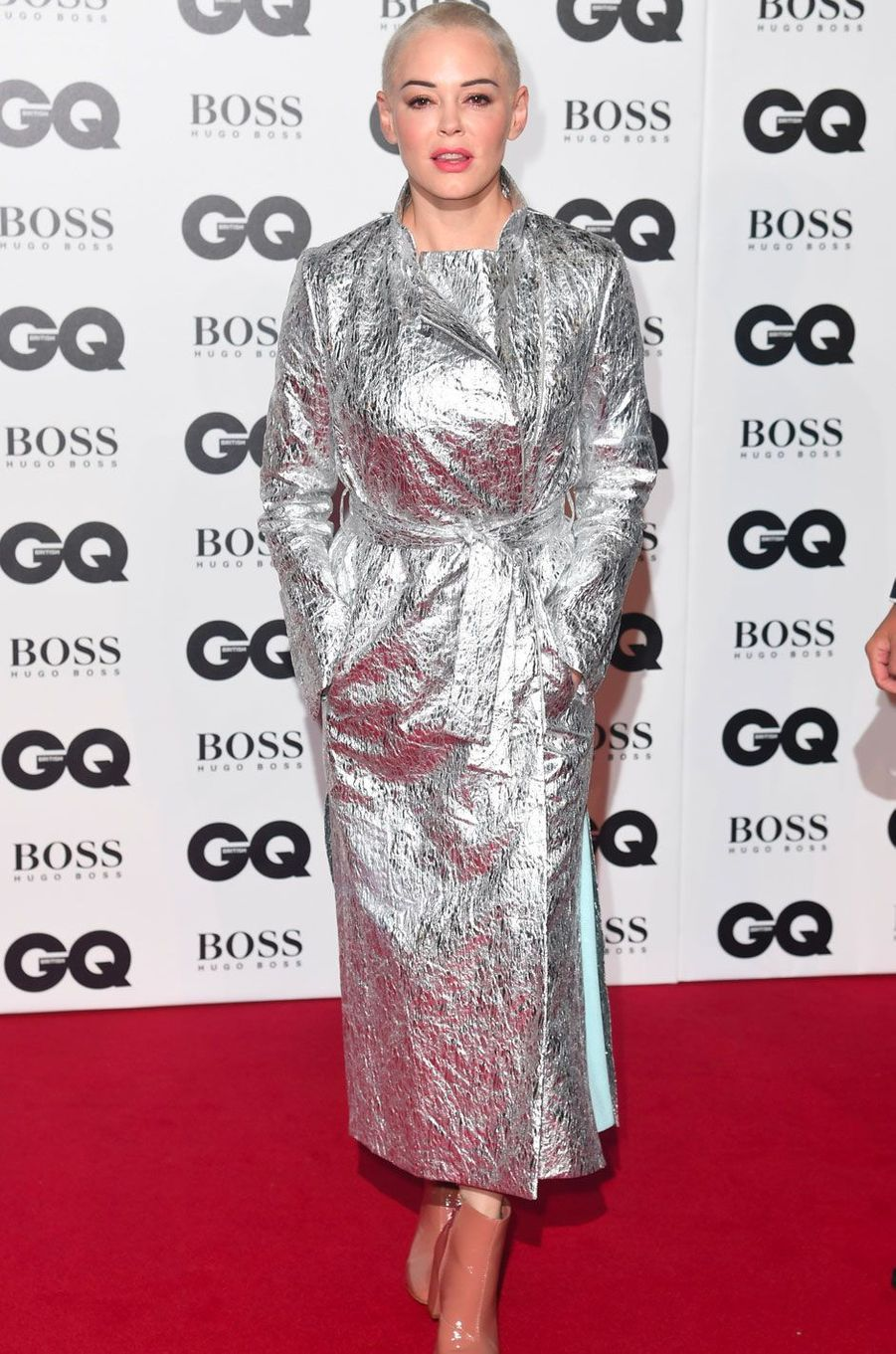 "Rose McGowan à la soirée ""GQ Men of the Year"", le 5 septembre 2018 à Londres"