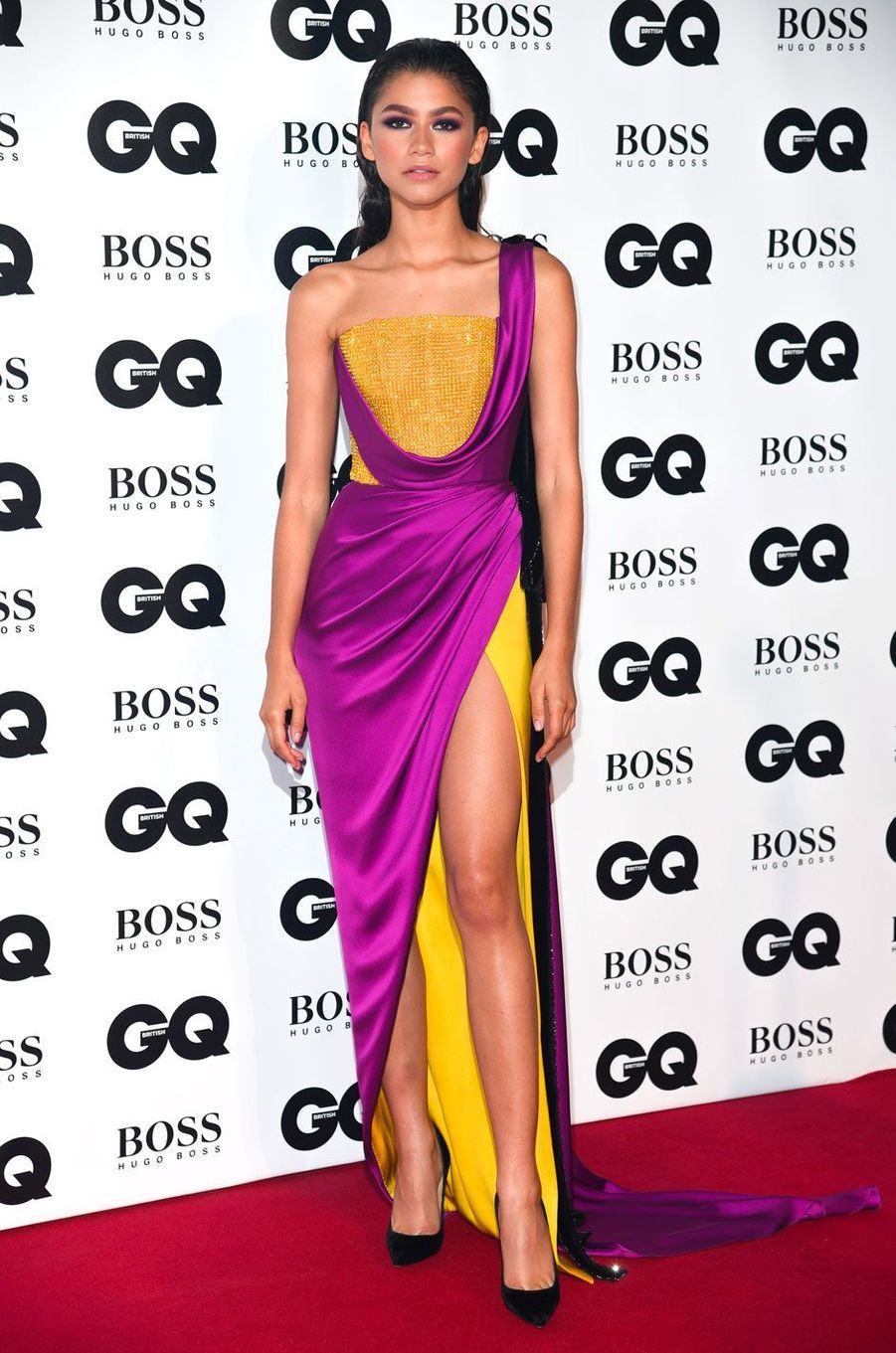 "Zendaya à la soirée ""GQ Men of the Year"", le 5 septembre 2018 à Londres"