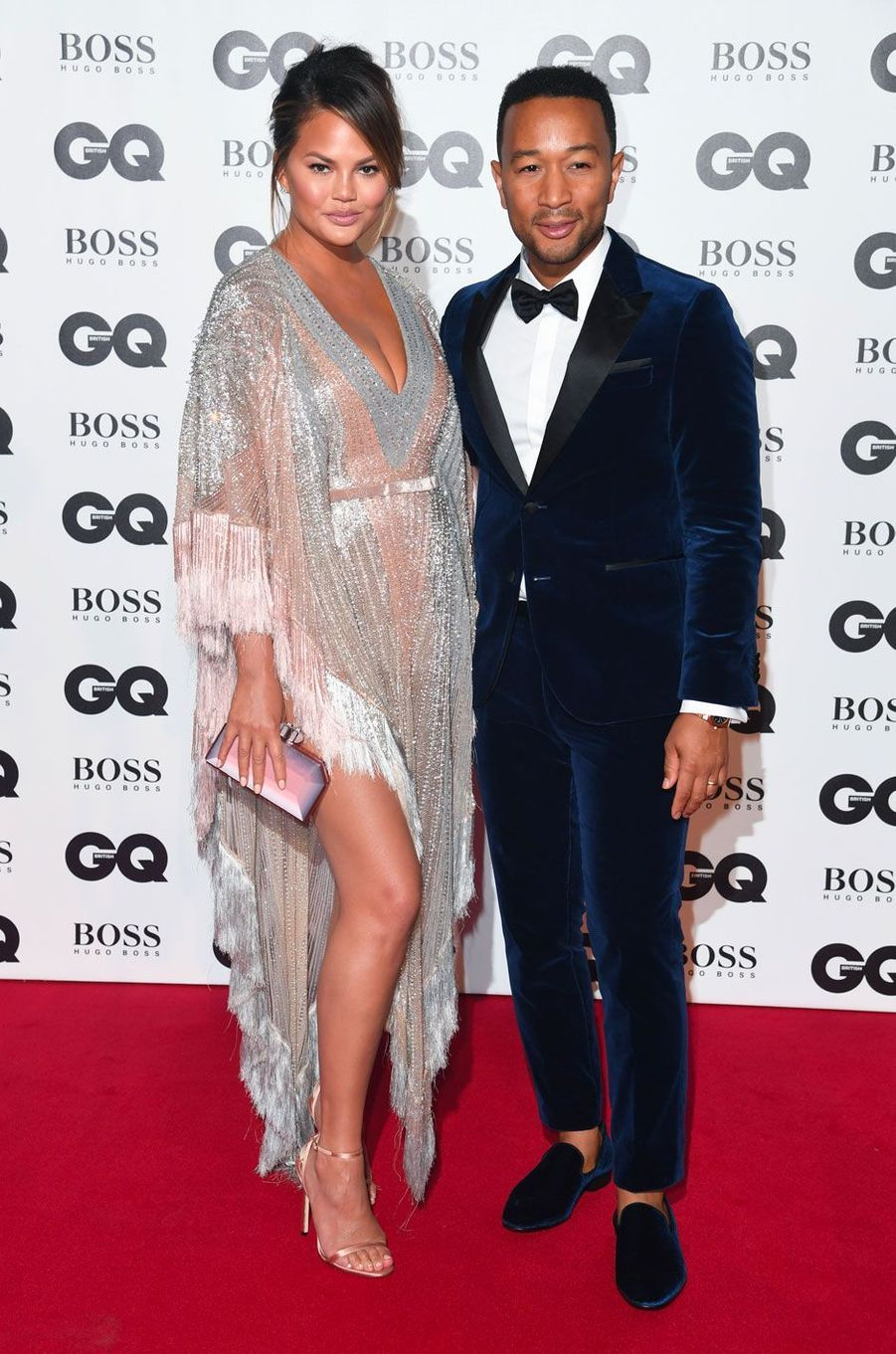 "Chrissy Teigen et John Legend à la soirée ""GQ Men of the Year"", le 5 septembre 2018 à Londres"