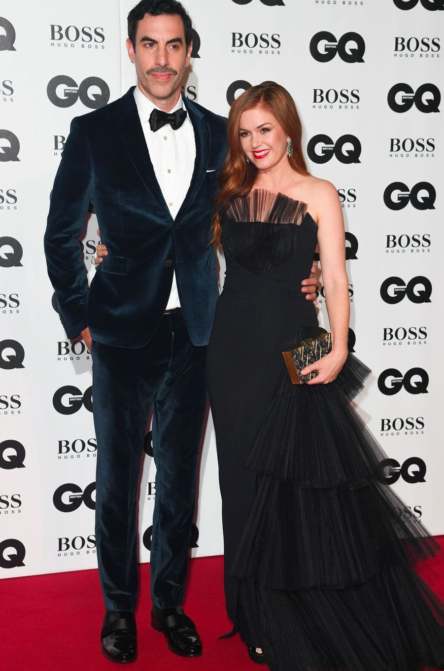 "Sacha Baron Cohen et Isla Fisher à la soirée ""GQ Men of the Year"", le 5 septembre 2018 à Londres"