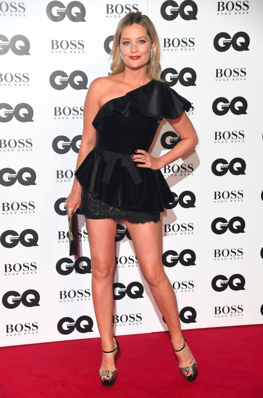 "Laura Whitmore à la soirée ""GQ Men of the Year"", le 5 septembre 2018 à Londres"