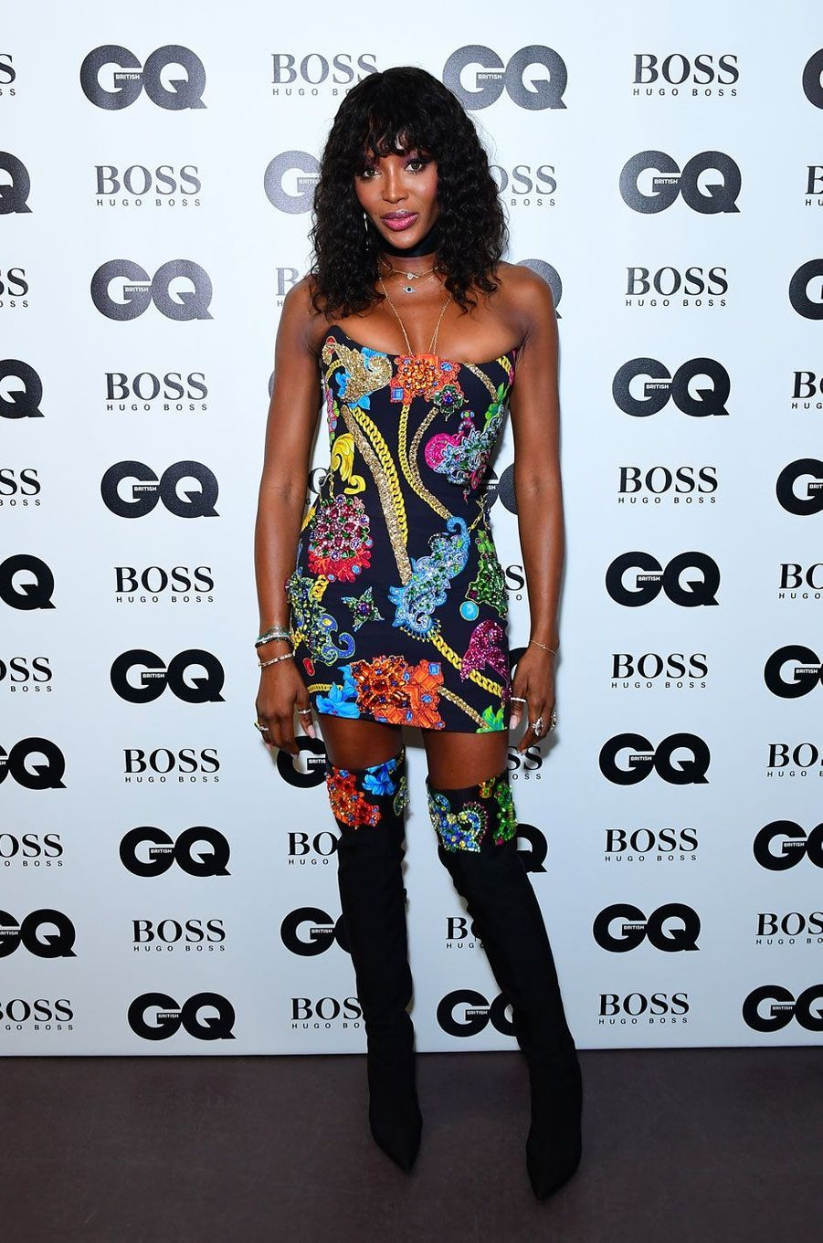 "Naomi Campbell à la soirée ""GQ Men of the Year"", le 5 septembre 2018 à Londres"