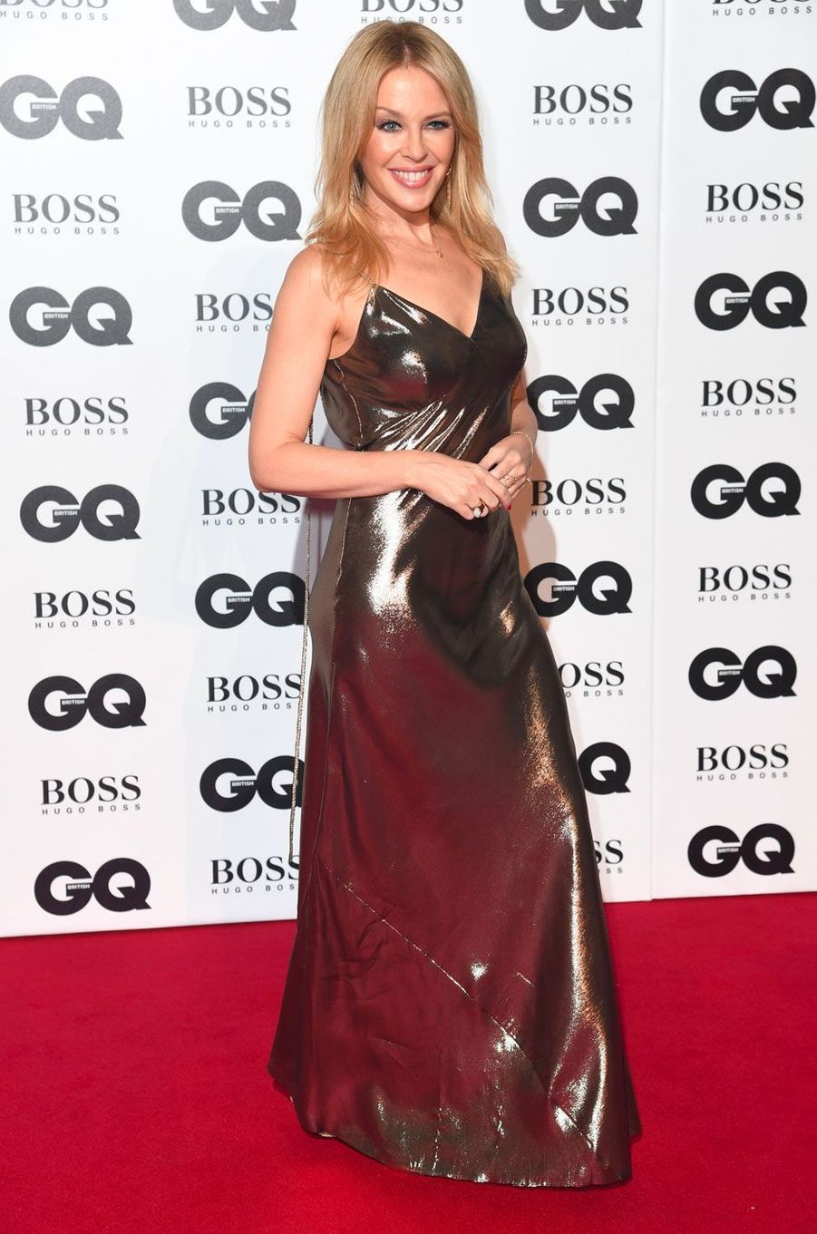 "Kylie Minogue à la soirée ""GQ Men of the Year"", le 5 septembre 2018 à Londres"