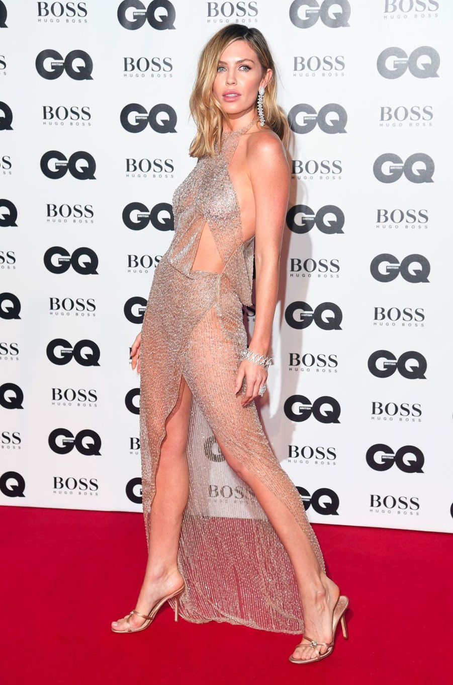 "Abbey Clancy à la soirée ""GQ Men of the Year"", le 5 septembre 2018 à Londres"