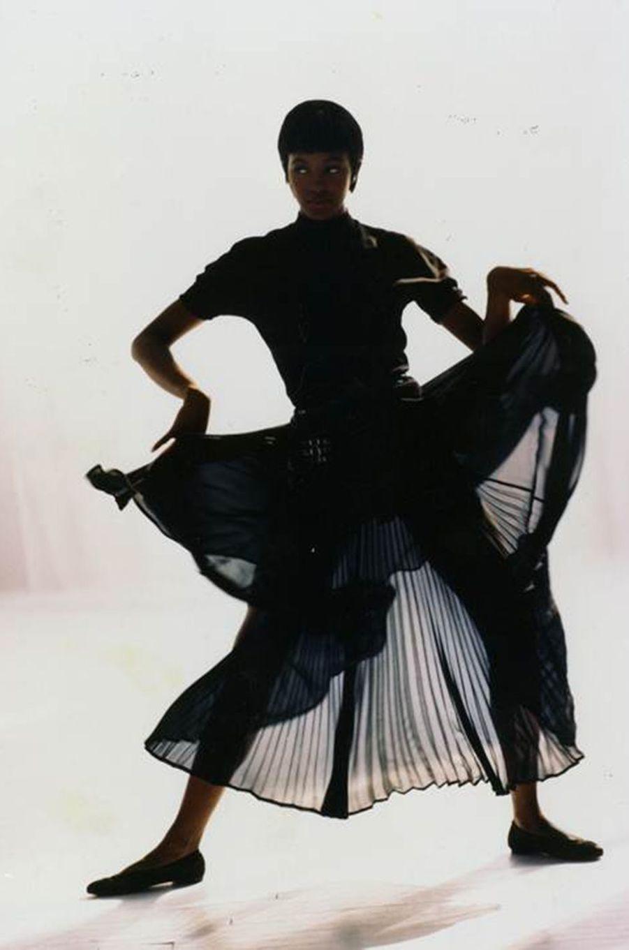 Naomi Campbell lors de son premier shooting pour le magazine «Vogue» en 1988