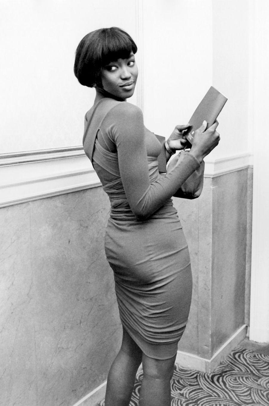 Naomi Campbell lors d'un gala à New York en octobre 1989
