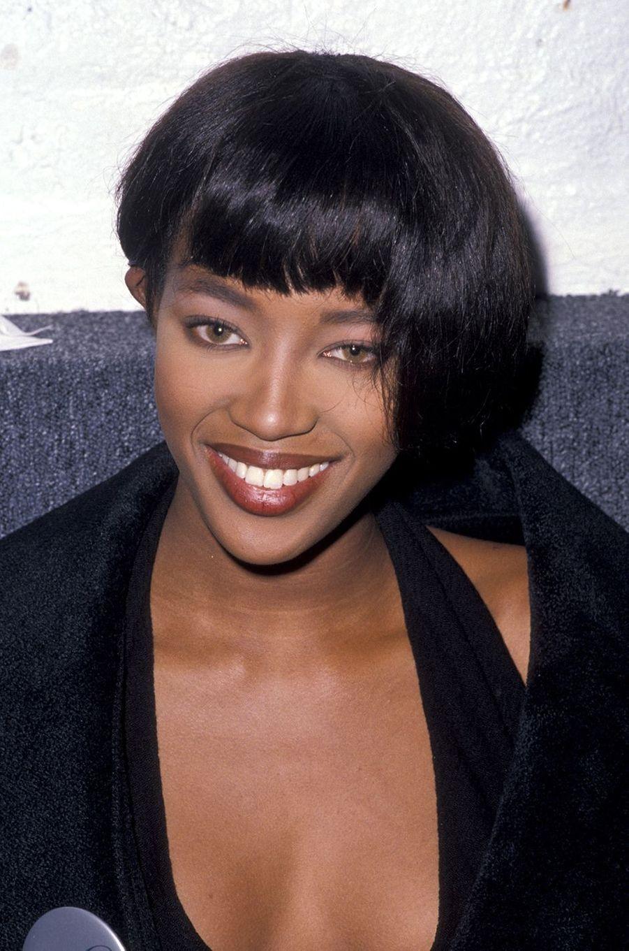 Naomi Campbell lors d'une soirée à New York en novembre 1989