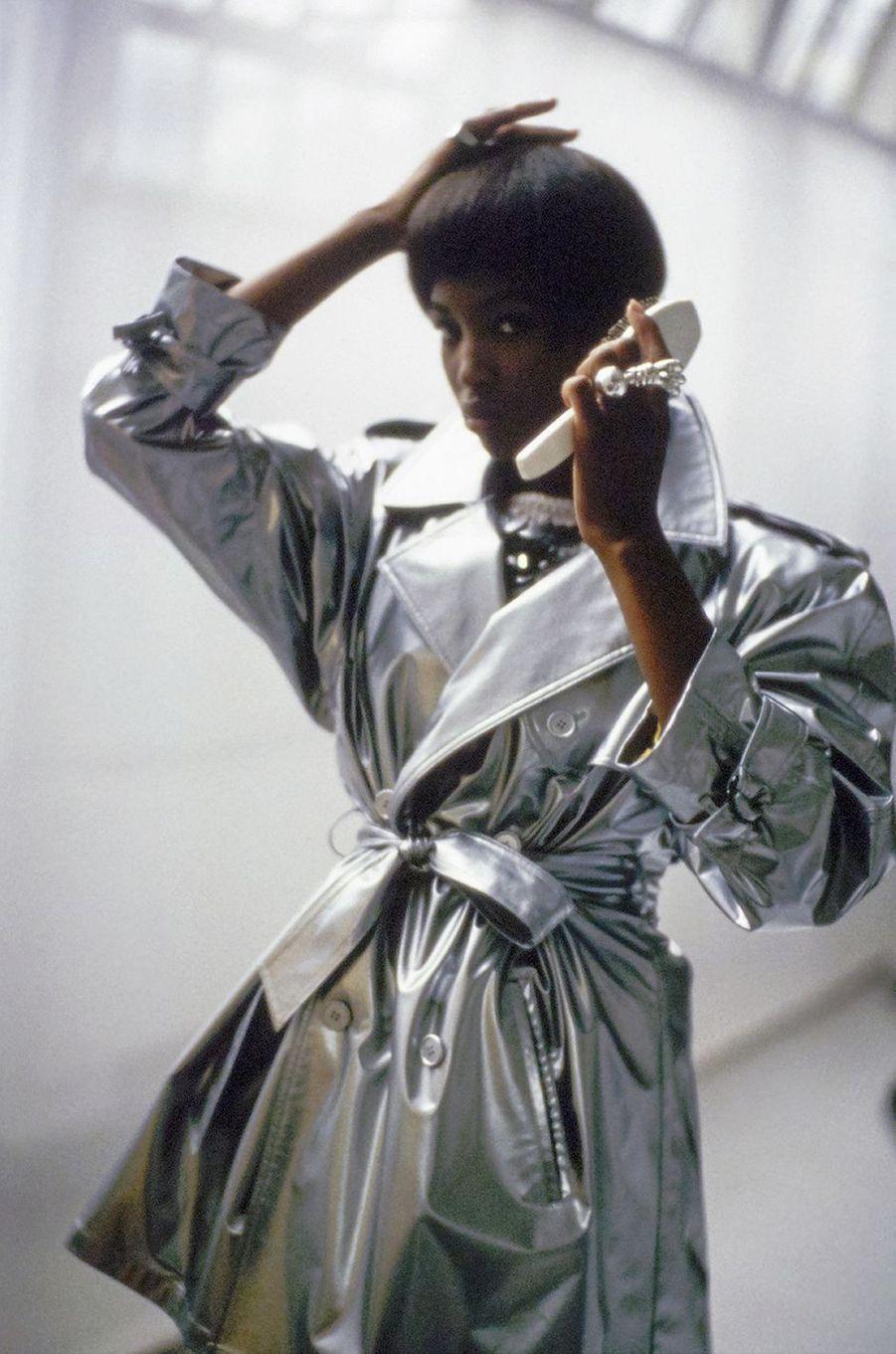 Naomi Campbell lors d'un shooting pour le magazine «Vogue» en 1989
