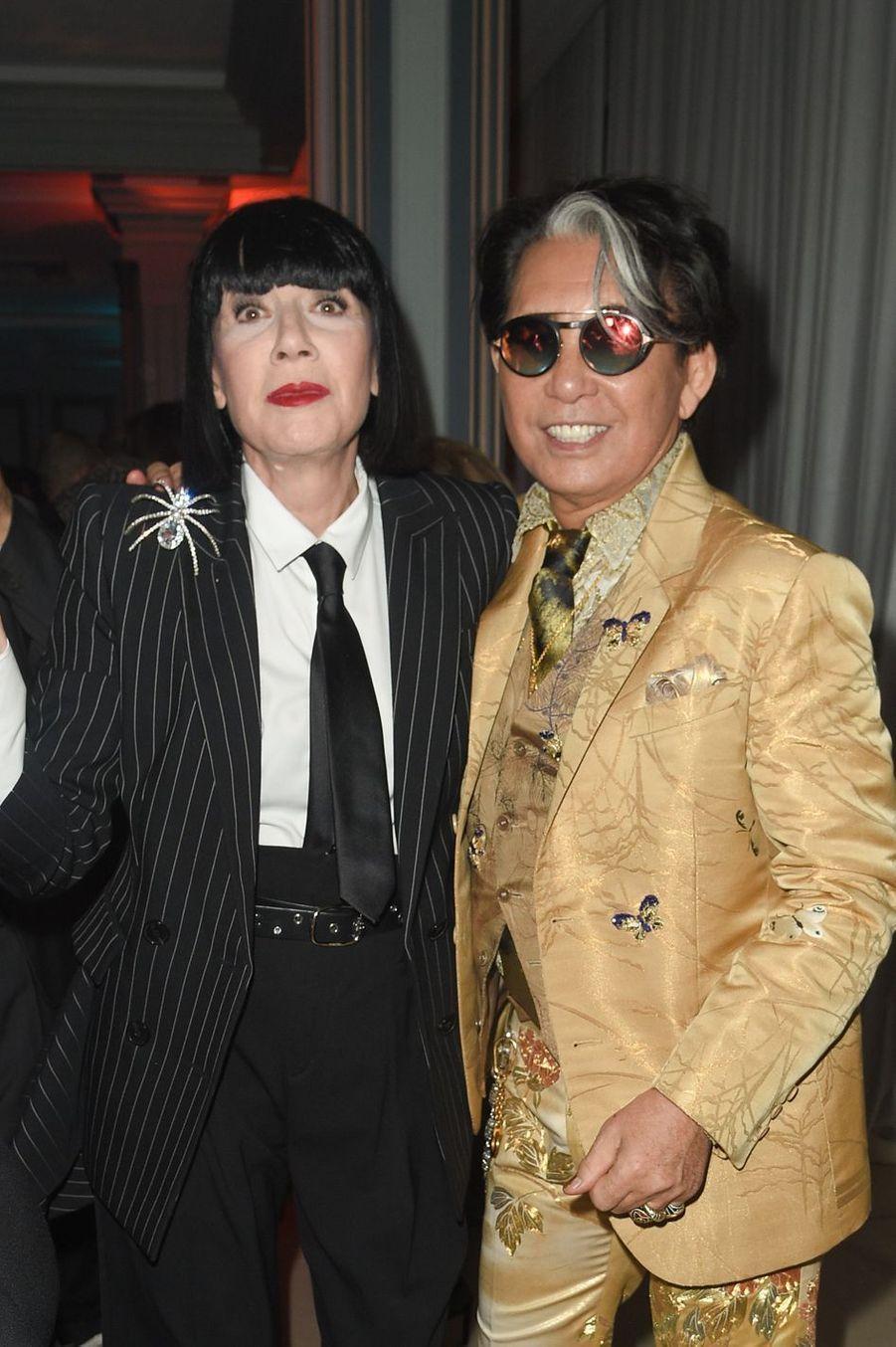 "Chantal Thomaspendant la soirée ""Kenzo Takada's Birthday Night"" à Paris, le 28 février 2019"
