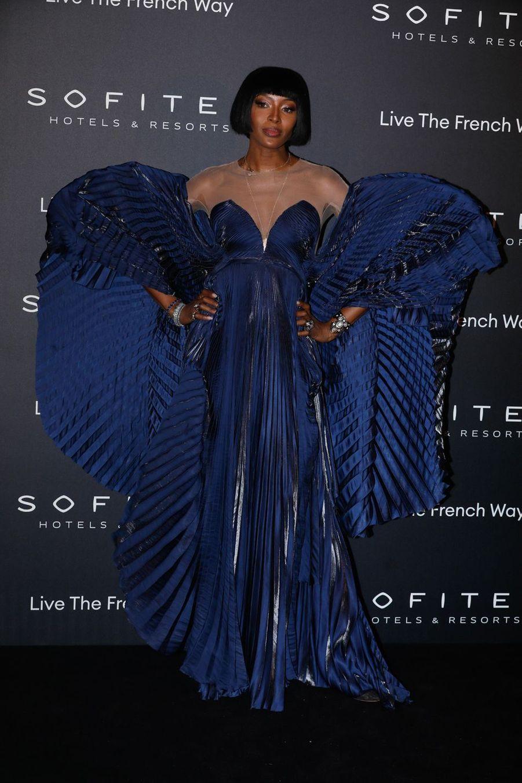 """Naomi Campbell à la soirée """"La nuit by Sofitel"""" au pavillon Cambon à Paris, le 28 février 2019"""