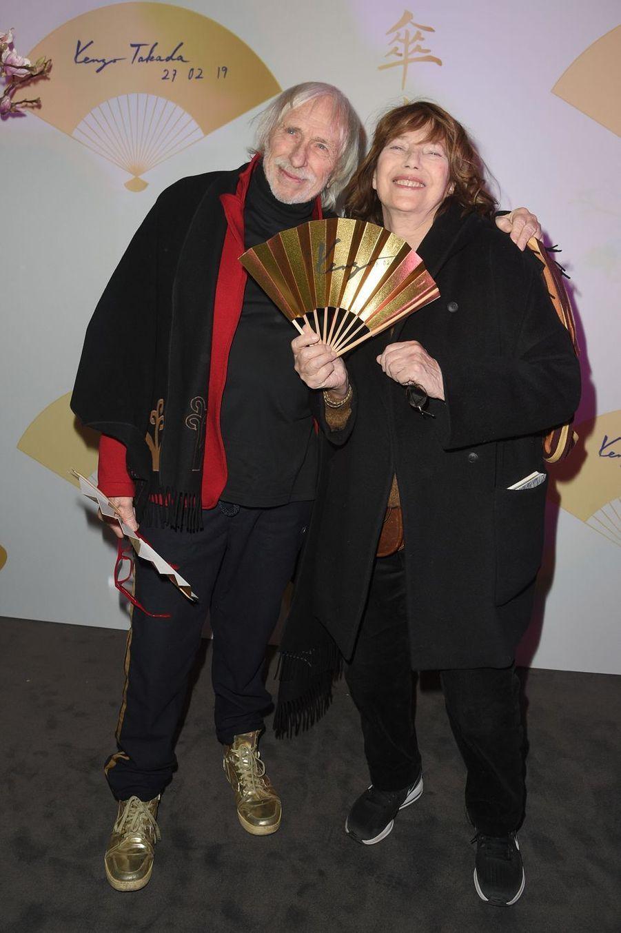 "Pierre Richard et Jane Birkin pendant la soirée ""Kenzo Takada's Birthday Night"" à Paris, le 28 février 2019"