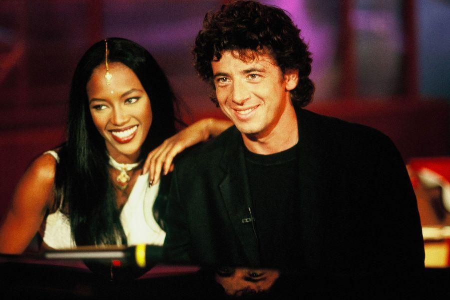 Naomi Campbell et Patrick Bruel en 1994