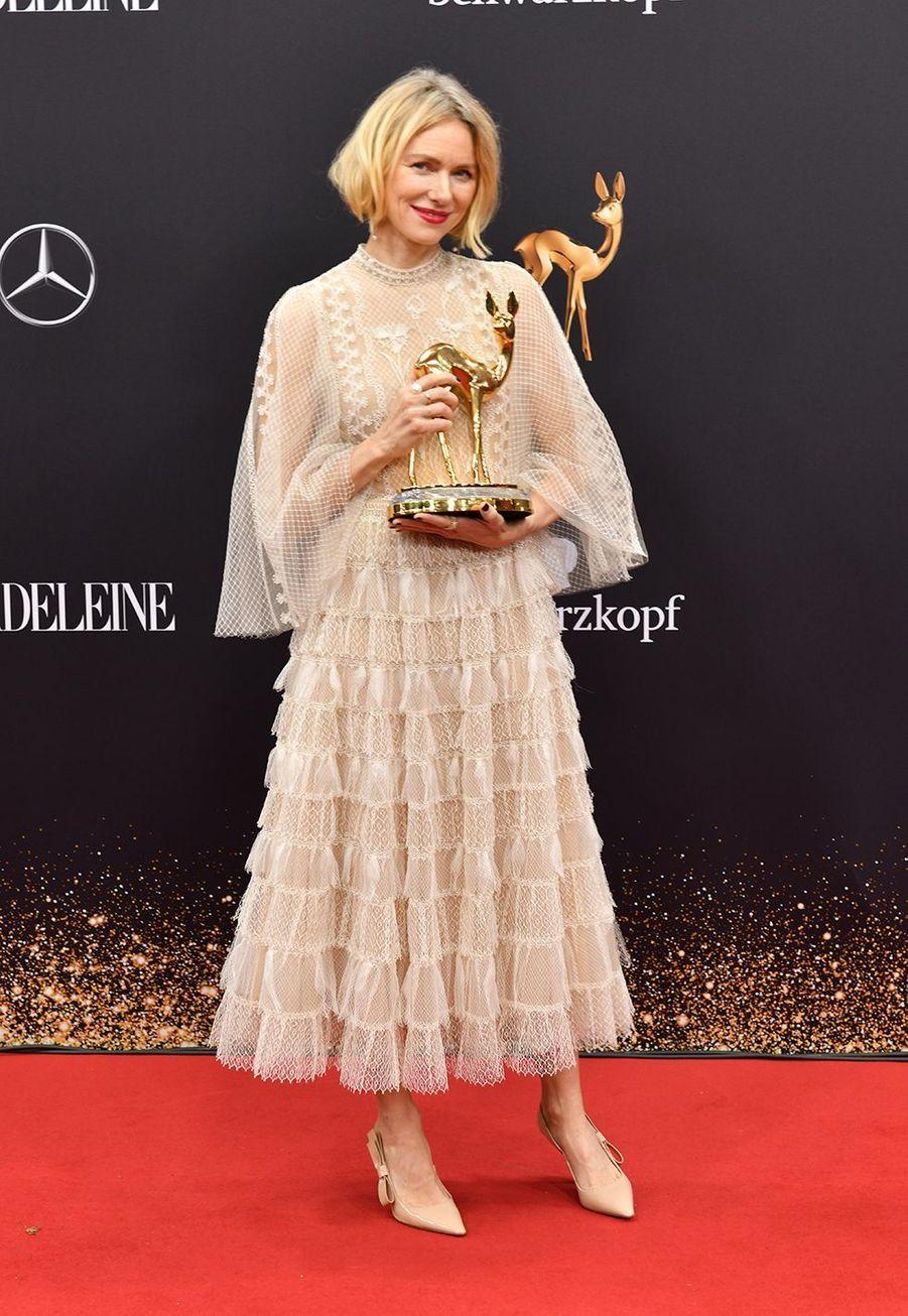 Naomi Wattsà la soirée des Bambi Awards à Baden-Baden, en Allemagne, le 21 novembre 2019.