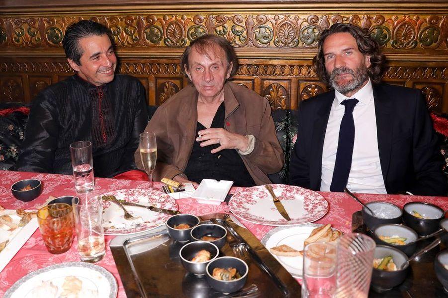 Ariel Wizman, Michel Houellebecq et Frédéric Beigbeder