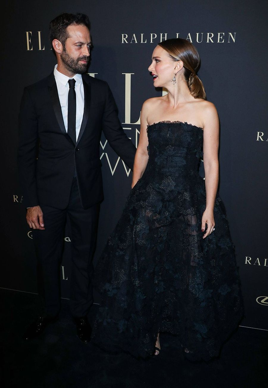 Benjamin Millepied et Natalie Portman à la soirée «Elle Women In Hollywood» à Beverly Hills le 14 octobre 2019
